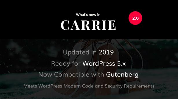 2.0 Carrie - Personal & Magazine WordPress Theme Nulled Free Download Carrie – Personal & Magazine WordPress Theme Nulled Free Download carrie 2